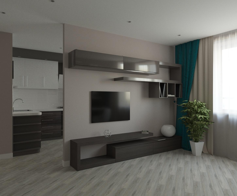 Дизайн-проект однокомнатной квартиры в Ярославле на улице Мирная